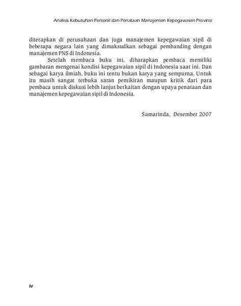 Buku Manajemen Kepegawaian Sipil Di Indonesia analisis kebutuhan personil dan penataan manajemen
