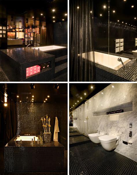 Club Bathroom by Apartment Black Home Bathroom Design Ideas