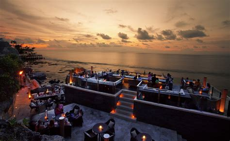 Bali Cliff Top Bar by Paradise For Tourism The Rock Bar In Resort Bali