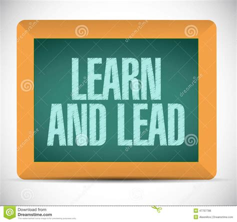 learn and lead stock images learn and lead board sign illustration stock illustration image 47707786