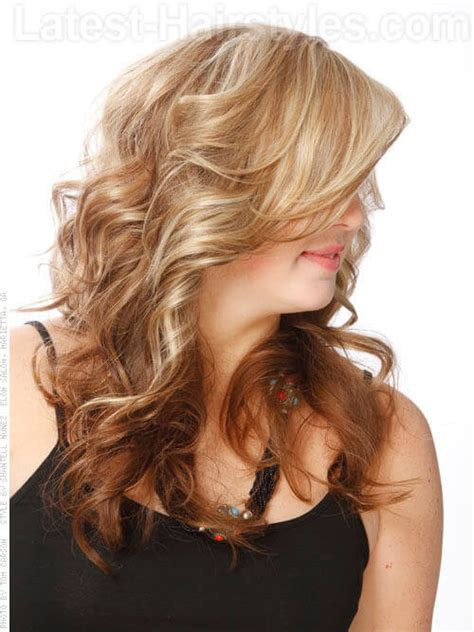 straight blonde hair with brown underneath perfect reverse blonde to brown side view