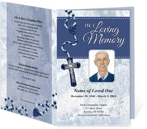 catholic funeral programs template for a catholic mass