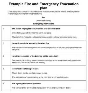 Evacuation Checklist Template by Emergency Evacuation Plan Template 10 Free Word Pdf