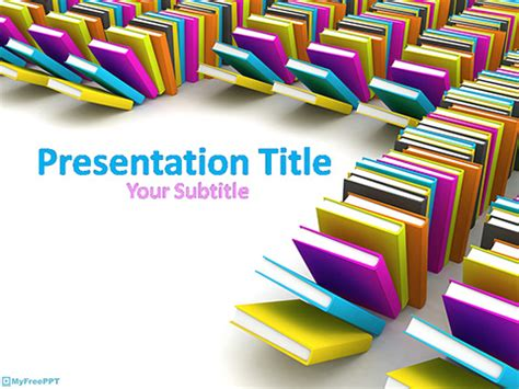 ppt templates for library free library books powerpoint template download free
