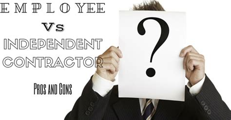 differences employee independent contractor hiring employee vs independent contractor pros and cons