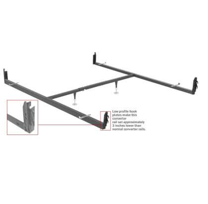 drcv1l drop rail bed frame converter