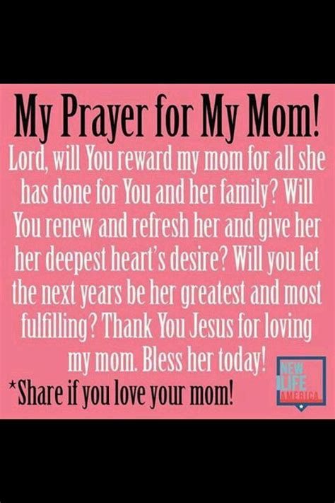 prayer for helpful hints mothers