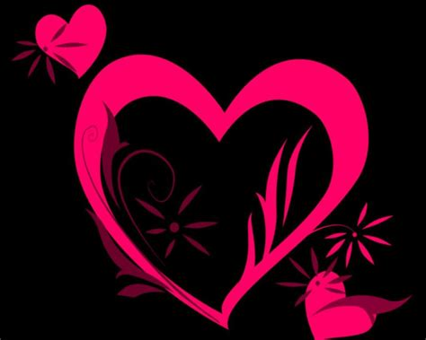 black pink heart pink hearts pictures clipart best