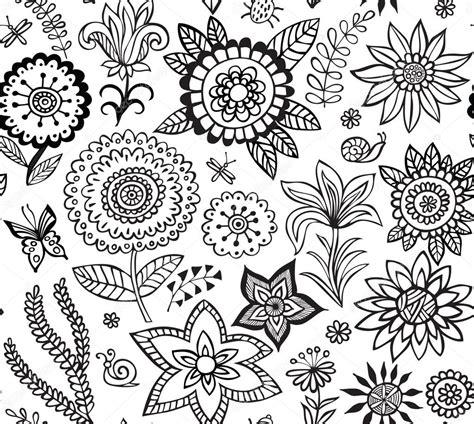flower pattern vector black and white vector flower pattern black and white seamless botanic