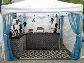 how to set up a light show 7 outdoor craft fair booth ideas you ve never thought of