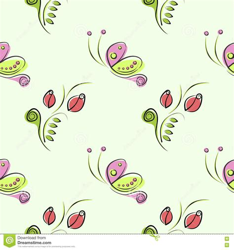 ornamental seamless pattern vector seamless vector floral pattern with insect decorative