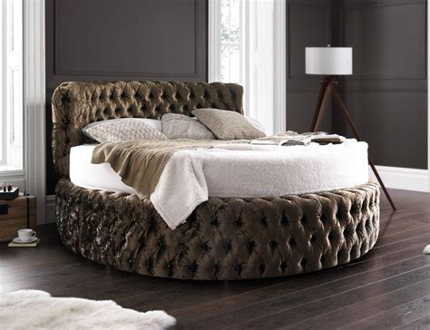 round beds glamour chesterfield 7ft round bed with headboard 210cm