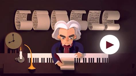 Google Themes Beethoven | google doodle honors beethoven s 245th year with a musical