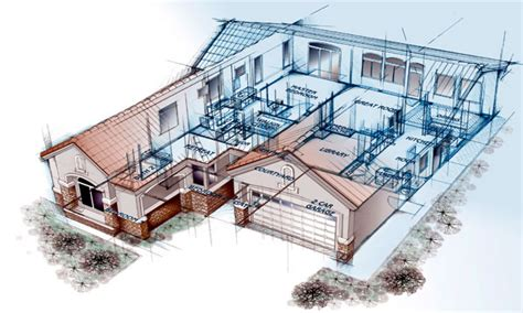 Ranch House Floor Plan architectural engineering architectural house blueprint