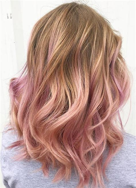 rose gold hair dye dark hair rose gold ombre hair trend for 2017 best hair color