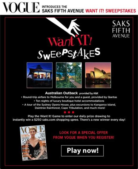 Vogue Sweepstakes - vogue want it sweepstakes the fashionable housewife