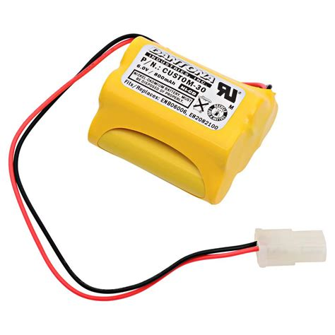 Baterai Lu Emergency 6 Volt ultralast green dantona 6 volt 800 mah ni cd battery for