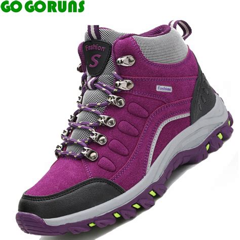 best womens hiking boots winter high top hiking shoes outdoor waterproof