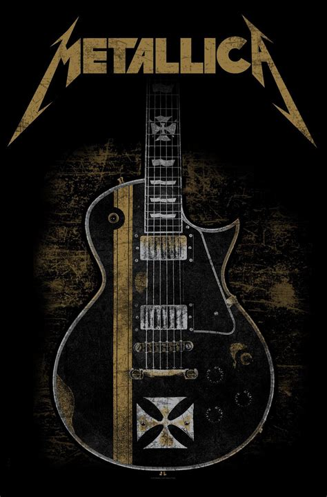 heavy metal and weights my story of guitar weights heavy metal workout albums and building books metallica textile poster hetfield guitar