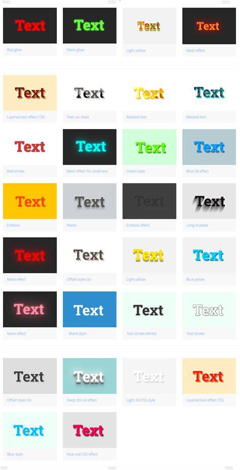 layoutit open source 30 effets de texte open source r 233 alis 233 s en css