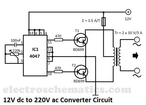 6v to 220v inverter circuit diagram 12v to 220v converter circuit electronic circuit