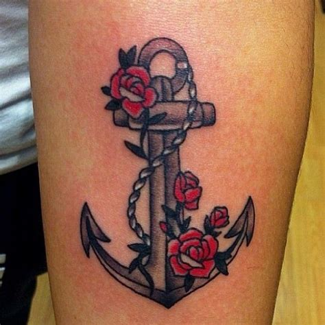 anchor and rose tattoos anchor and tattoos anchor color arm