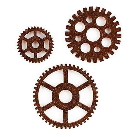 wall decor gears simple home decoration