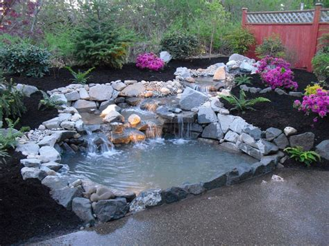 backyard ponds with waterfalls traditional home page 2 home garden design ideas with