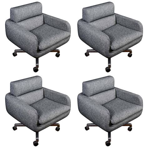 swivel armchairs for sale set of four vintage swivel armchairs for sale at 1stdibs