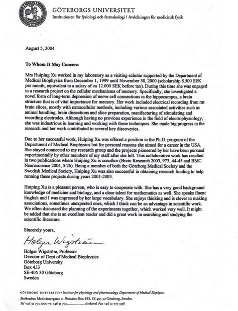 Letter Of Recommendation Personal Statement neurology residency candidate
