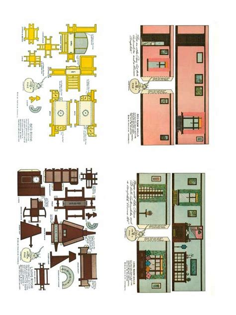 Papercraft Home - 1920 s home interiors paper model free paper toys and
