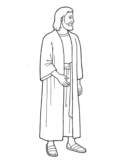 template of jesus jesus standing coloring pages