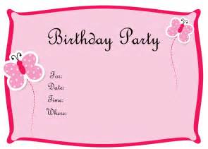 birthday invites free templates blank birthday invitations template free