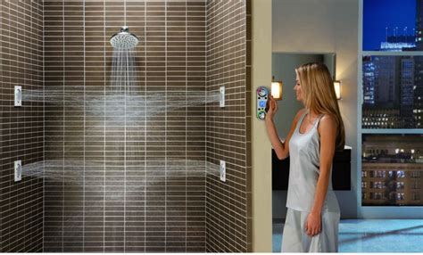 shower with jets on the walls minimalist bathroom with moen spray shower system