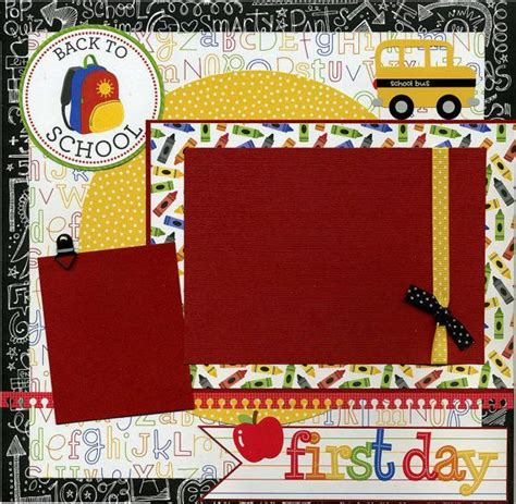 scrapbook layout first day of school 17 best images about scrapbook school layouts on