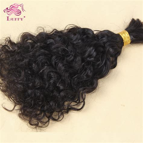 curly braiding hair extensions top quality unprocessed human hair bulk