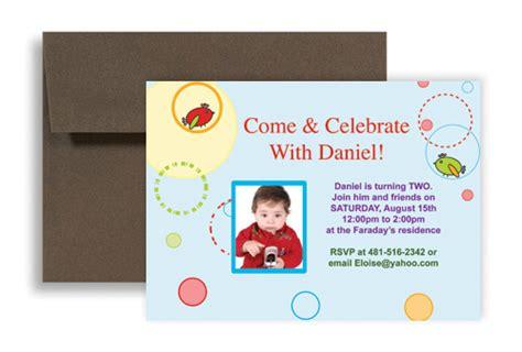 birthday invitation wording for baby boy two year boy baby blue birthday invitation wording 7x5 in