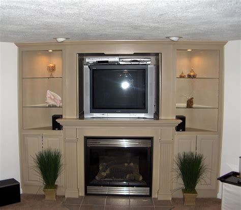 built in entertainment center with fireplace william e