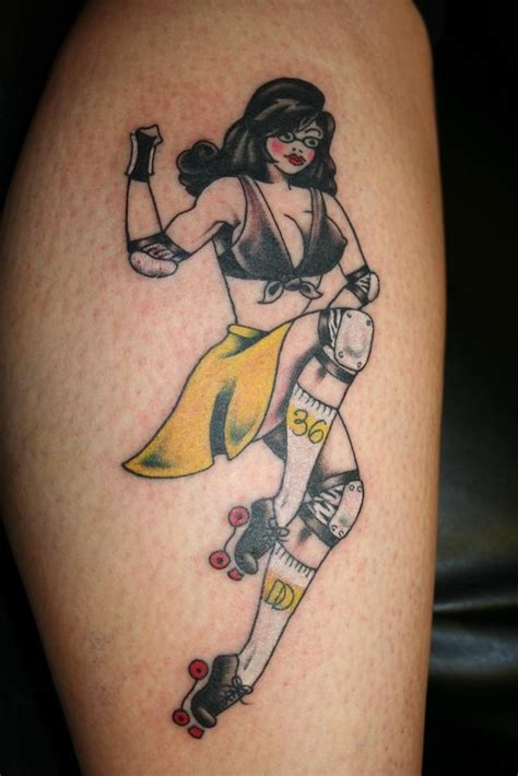 roller skate tattoo 17 best images about roller skating on