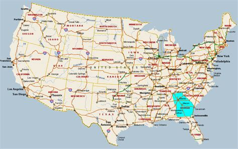 map usa atlanta fitzy s web site travel united states of america