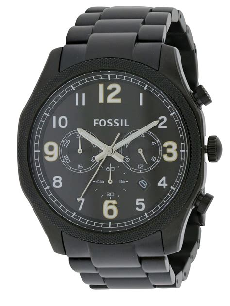 Fossil Ss fossil foreman chronograph black stainless steel mens fs4864 ebay