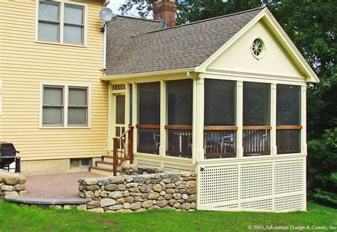 Berm House by Want To Convert Your Deck To A Porch Suburban Boston