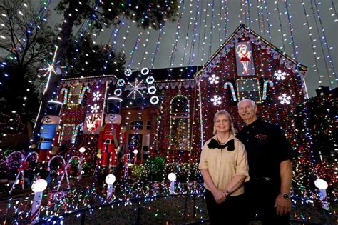 homeowner s big lights display has become a katy holiday