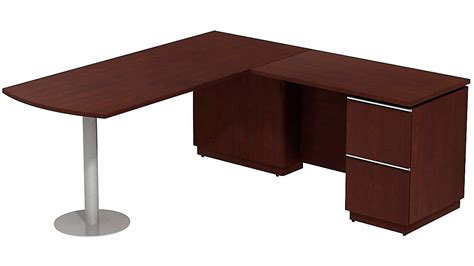 Bbf Milano Right Hand Peninsula L Desk Zuri Furniture Peninsula Desk Office Furniture