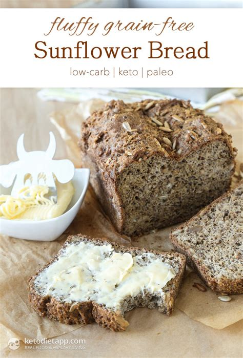 whole grains on keto fluffy grain free sunflower bread the ketodiet