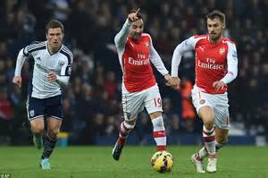 alexis sanchez distance covered west brom 0 1 arsenal danny welbeck fires gunners to