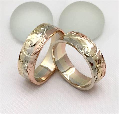 hawaiian wedding rings 14k gold jewelry makani ideas