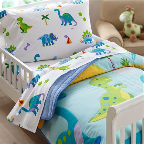 Dinosaurs Bedroom Set Boys Bed In A Bag Comforter Sheets Childrens Bedding Ebay Dinosaurland Blue Green Dinosaur Toddler Bedding Comforter Sheet Set Or Bed In A Bag Sleep