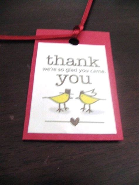 thank you tags wedding favors wording images