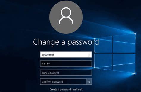 windows reset local password how to change windows 10 user local account password